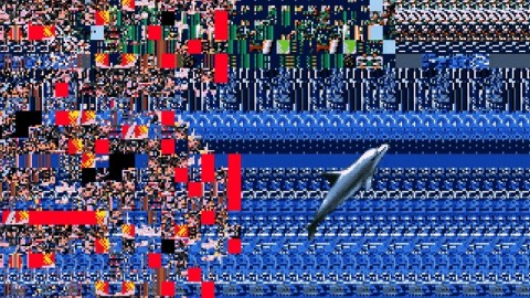 Ecco the Dolphin glitch art
